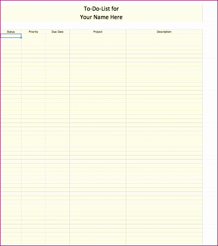 6 to do list template excel 693782