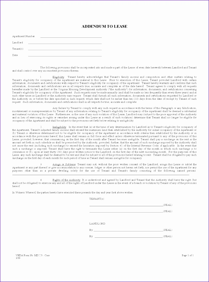 lease addendum form 698942