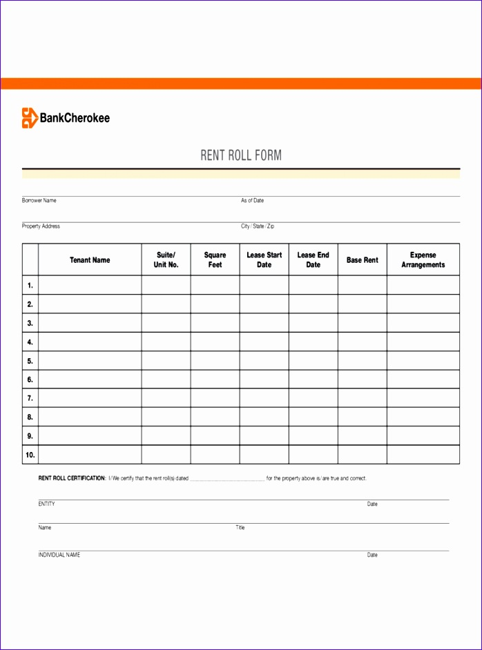 rent roll form 698942