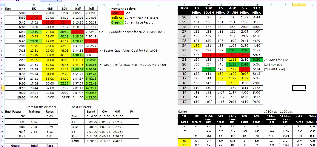 Excel Heat Map Template S9hgh Luxury Training Logs - ExcelTemplates ...