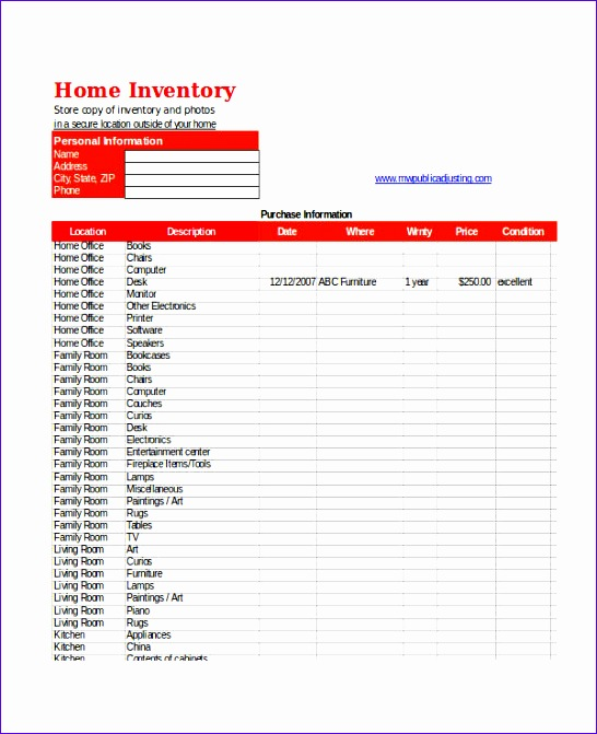 excel inventory template 546671