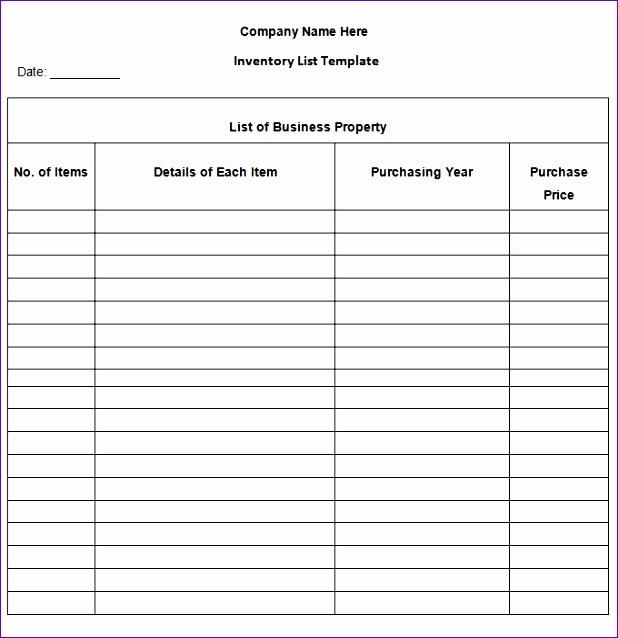 printable blank inventory list 618638