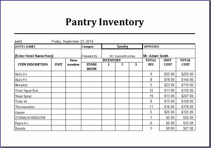 pantry inventory list 738517
