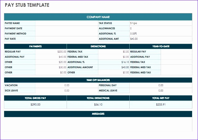 free pay stub templates 695493