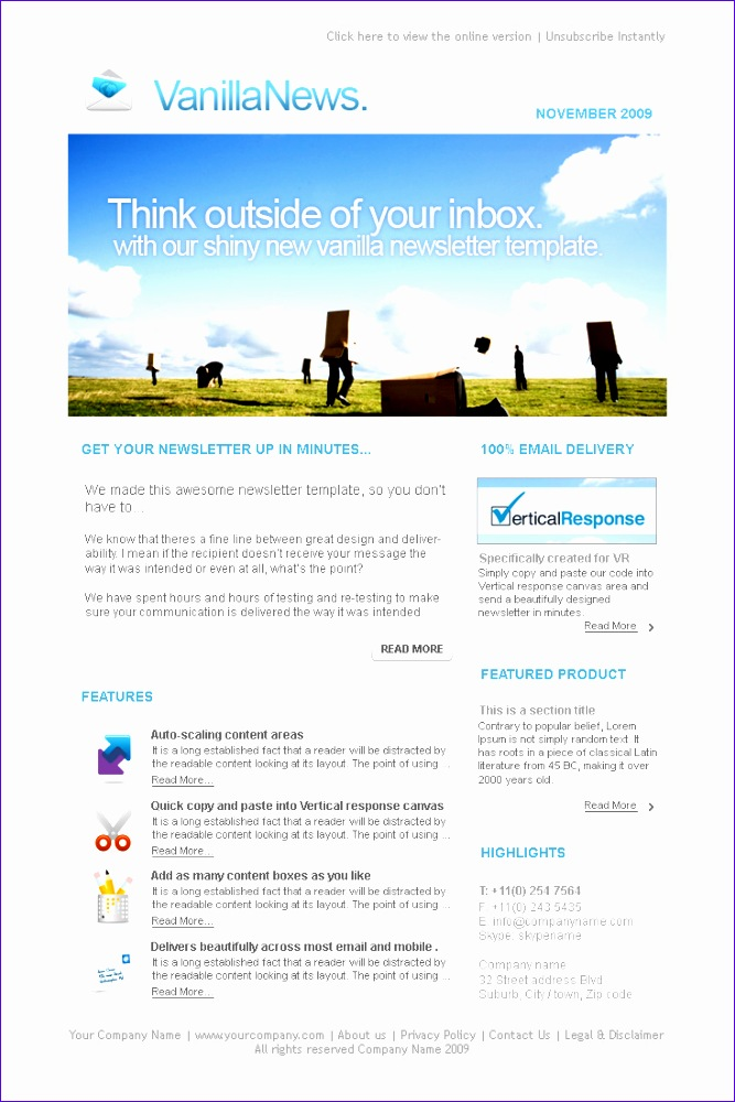 long formatted newsletter templates 2016business small email 6671000