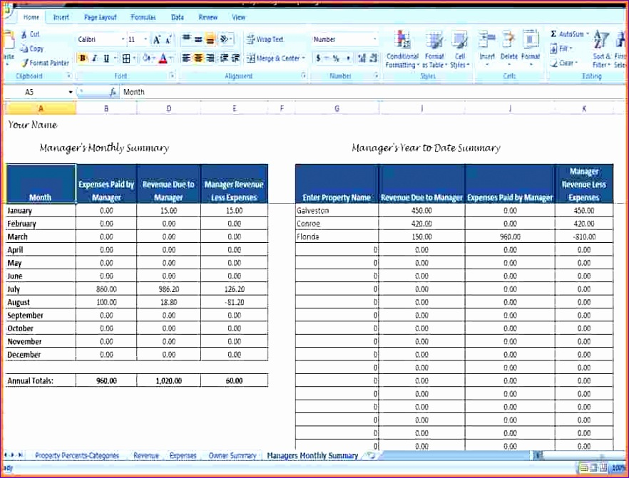 9 rental property spreadsheet template 882671