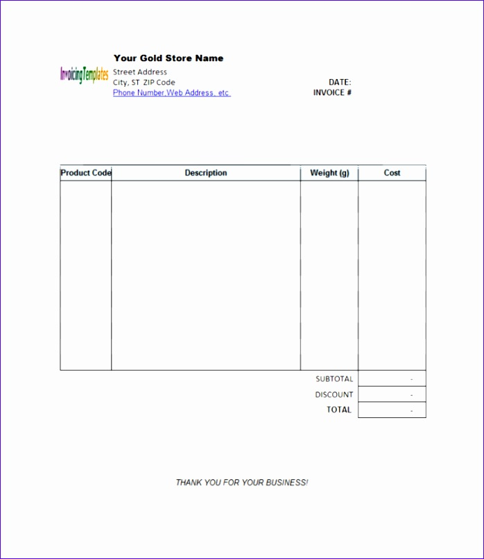 blank invoice template samples 698805