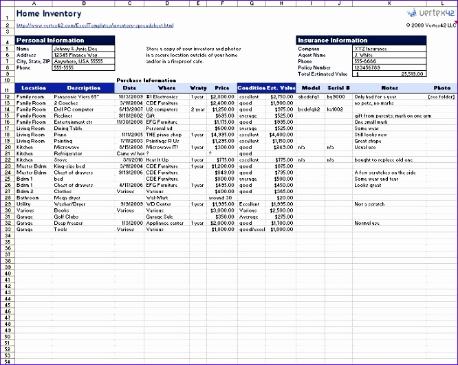 8 excel inventory templates - exceltemplates