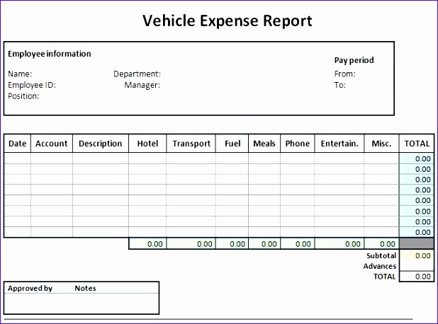 expense sheet template 618458