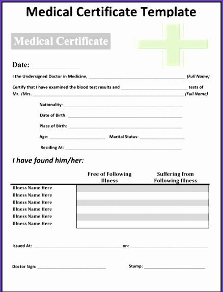 medical certificate sample 438572