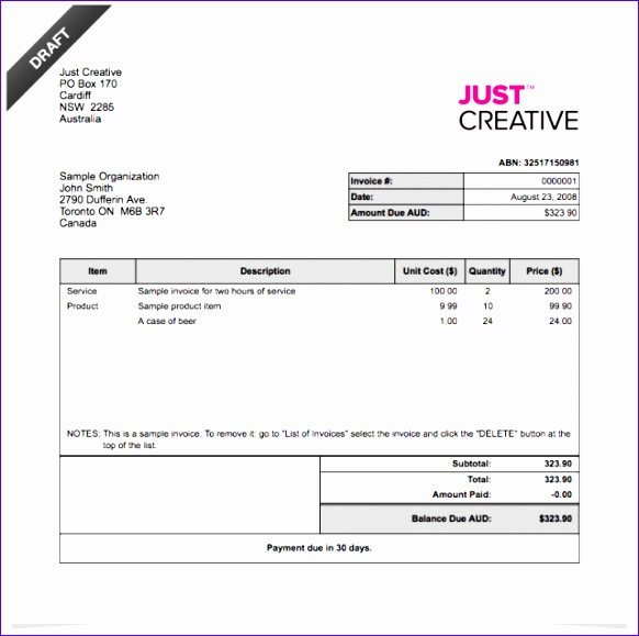 Excel Invoice Template Free Download  Exceltemplates