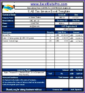 uae vat tax invoice 326355