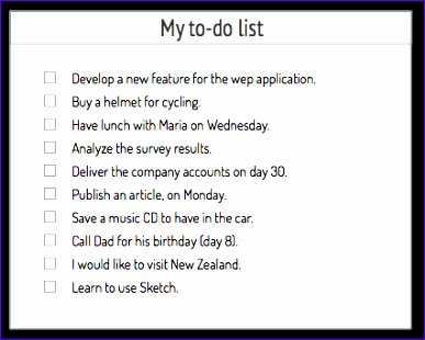 to do list example 668 387310