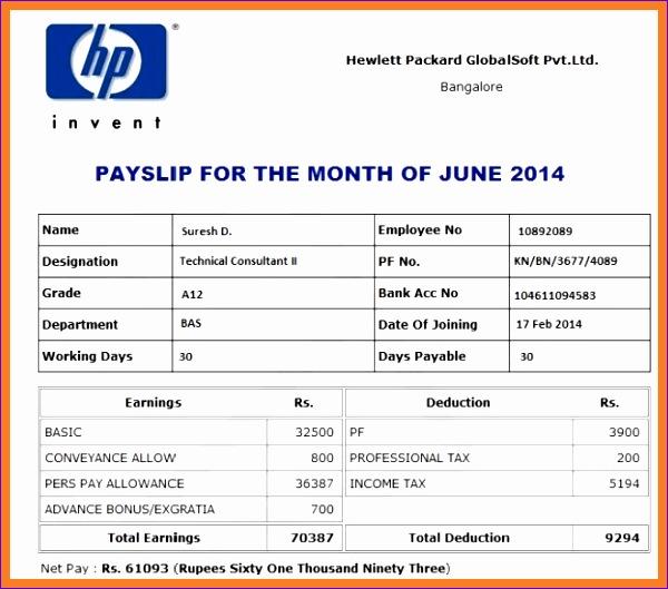 5 self employed payslip template 600529