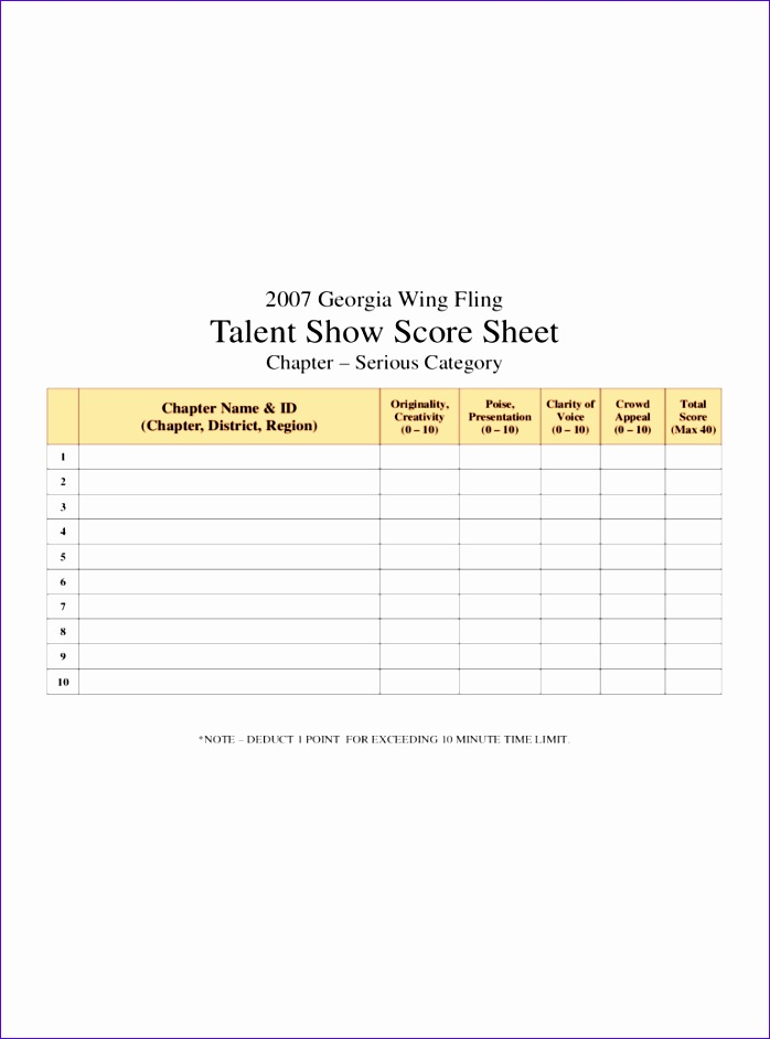 Excel Invoice Templates Free Nezqu Best Of Talent Show Score Sheet 4 .