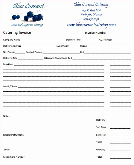 28 catering invoice templates free 457562