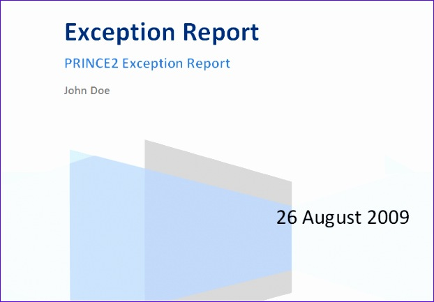 prince2 exception report 622433