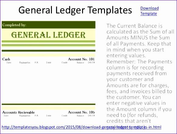 general ledger templates excel format