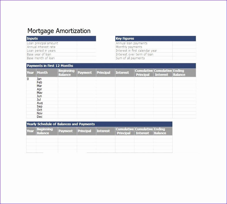 9 excel loan amortization template - exceltemplates