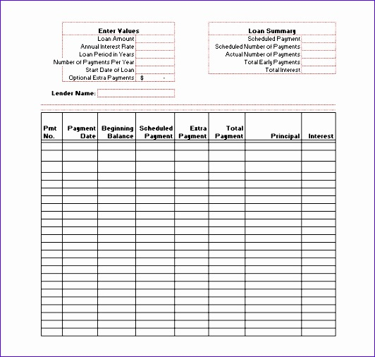 Beautiful Amortization Schedule Template