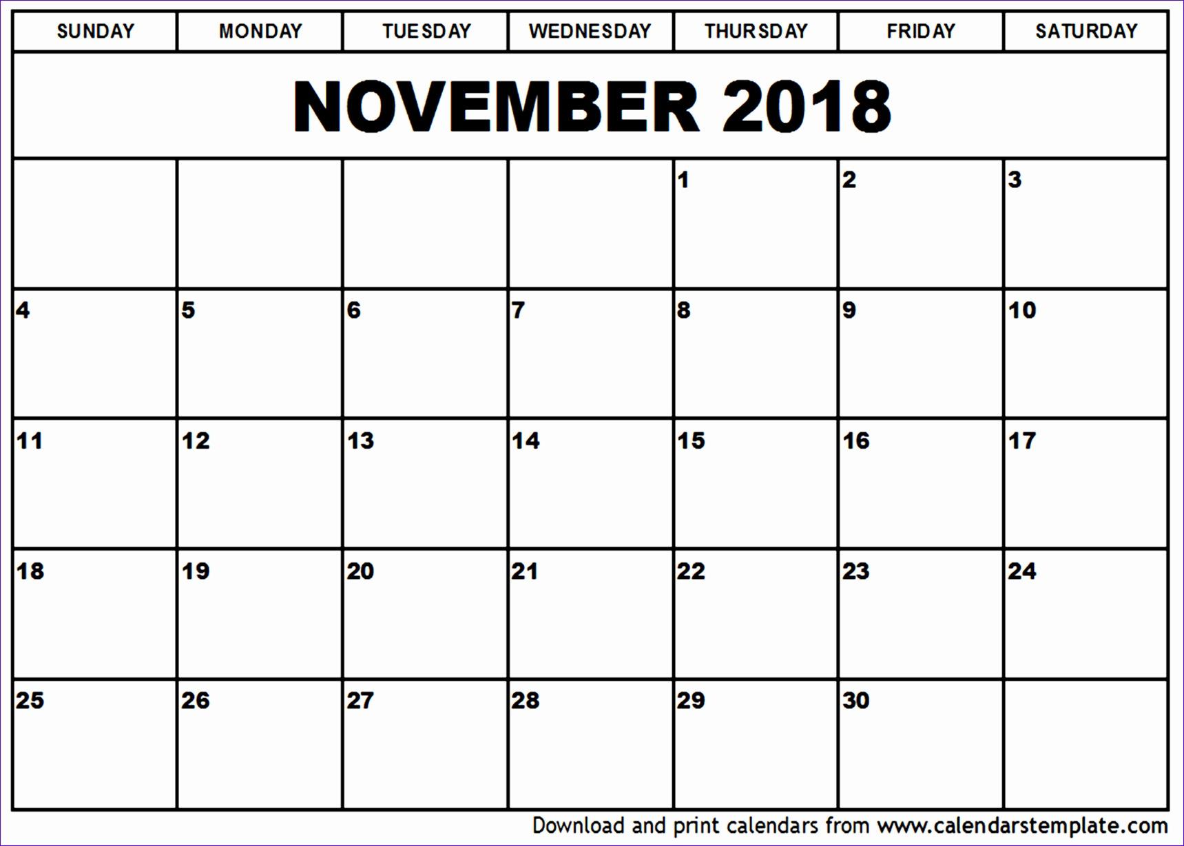 november 2018 calendar template 1195 17191229