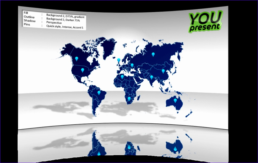 world map template powerpoint 982621