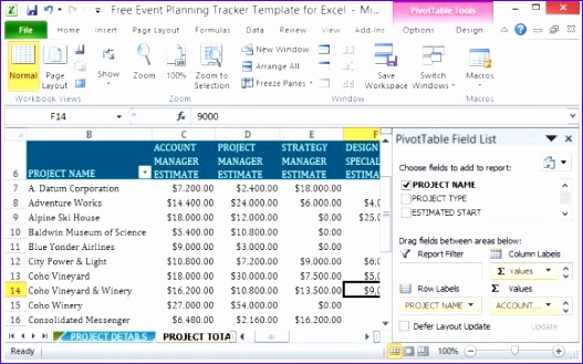 free event planning tracker template for excel 527329