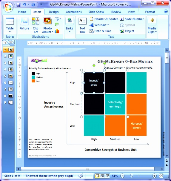 ge mckinsey matrix for powerpoint 573606
