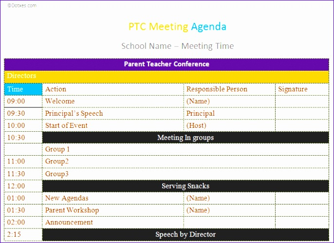 conference agenda template excel 4 2 686498