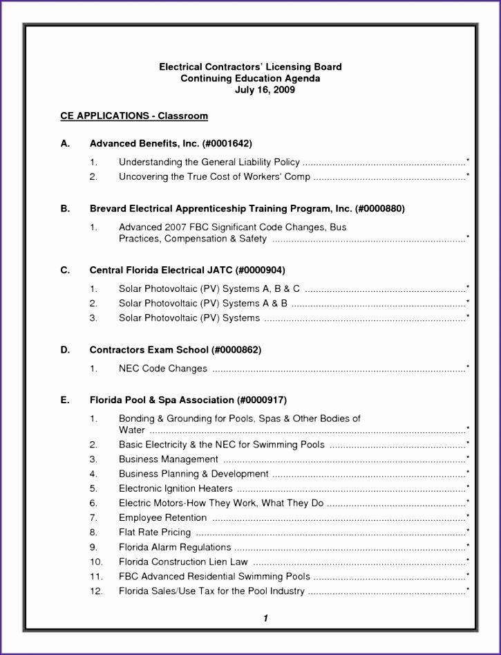 nonprofit board meeting agenda template 725947