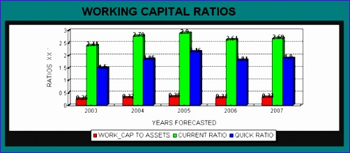 financial forecasts working capital ratios 502220