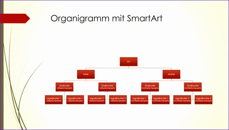 Organigramm Familienstammbaum vertikal grün rot Breitbild TM 728414