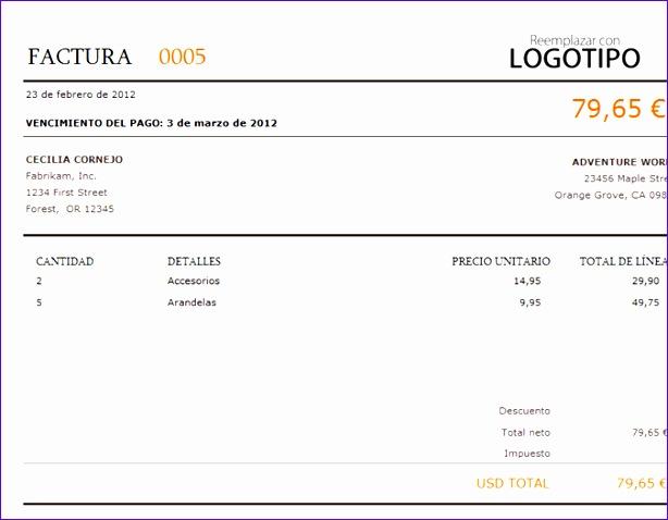 Factura TM 614478