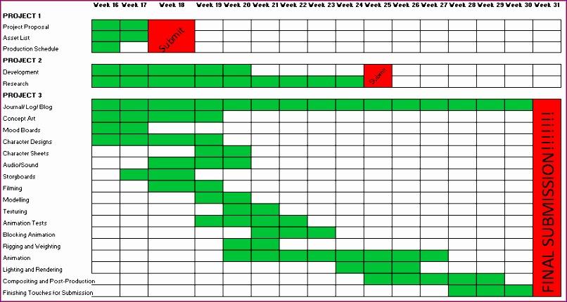 4 schedule template excel 806430