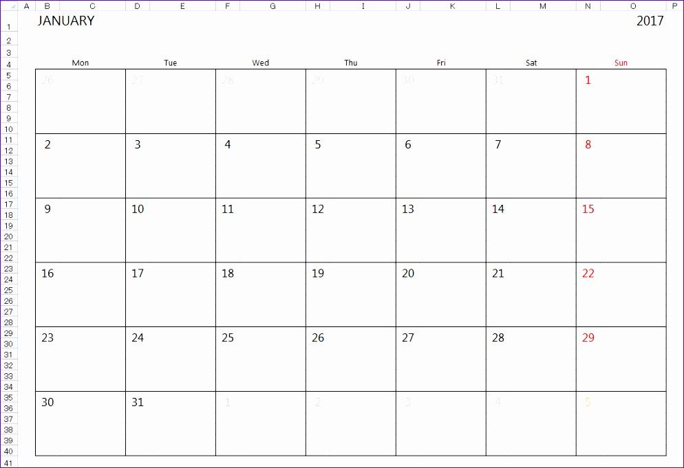 2017 calendar template excel 3 994681