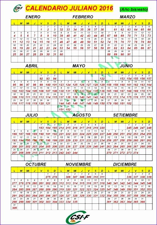 calendario con dia juliano 2016 514736