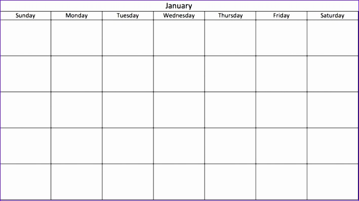 blank 31 day calendar 709396