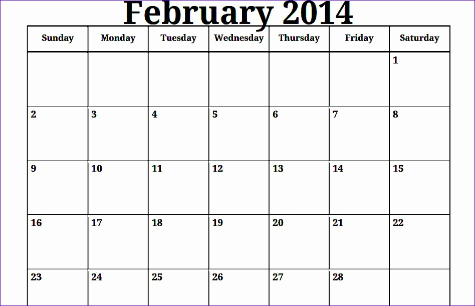 6 Excel Monthly Calendar Template 2014 Exceltemplates Exceltemplates