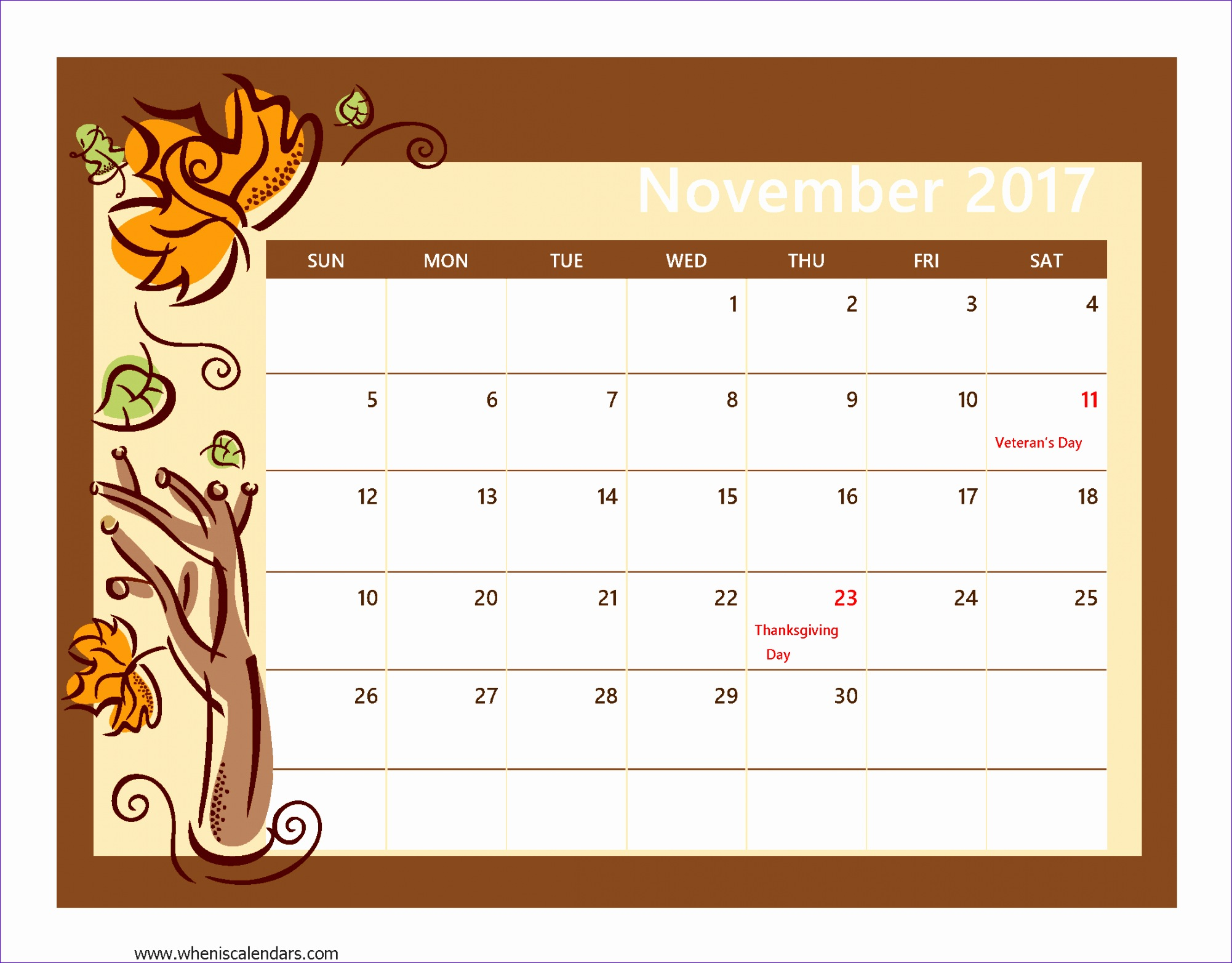 november 2017 calendar template 1249 20021564