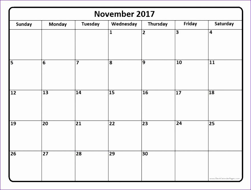 november 2017 calendar excel 2374 879666