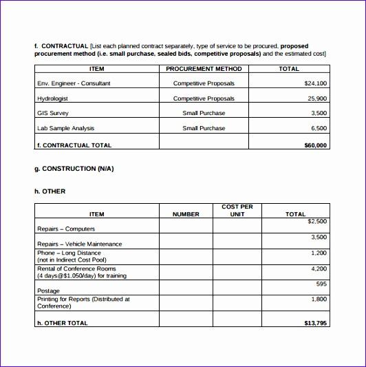 sample bud summary template 532533