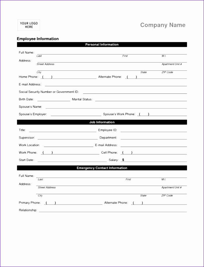 Excel Monthly Payment Template Ekexj Awesome Employee Details Form