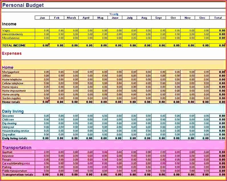 8 bill spreadsheet template 724577