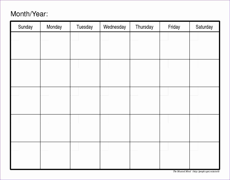monthly calendar template 2 313 15011173