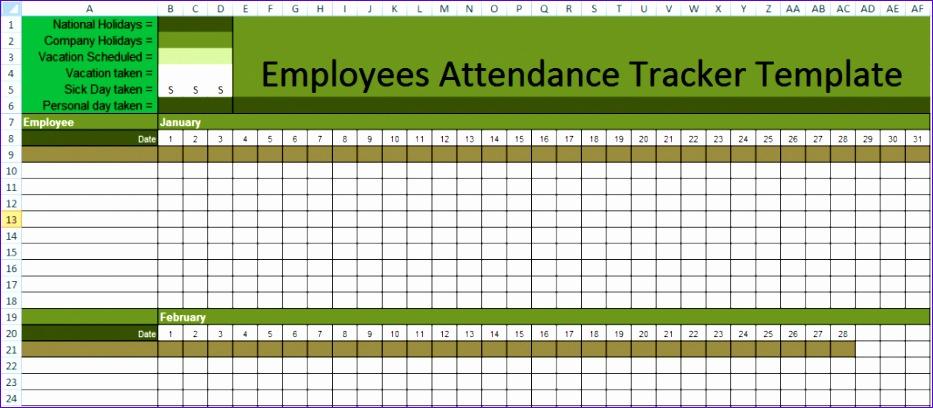 7 employee attendance tracker 933408