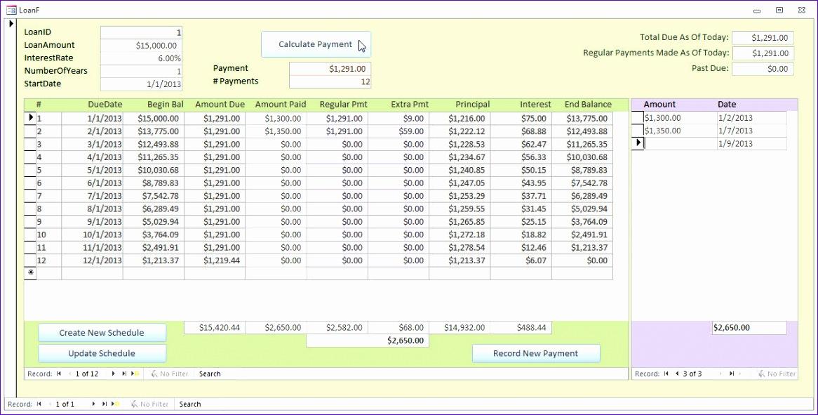 Excel Mortgage Template Ewqju New Microsoft Access Loan Amortization Template 1282643