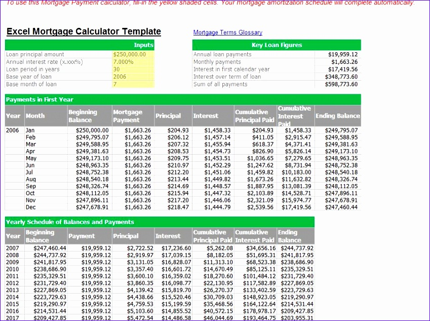 Excel Mortgage Template Zyuis Inspirational Excel Calendar 2013