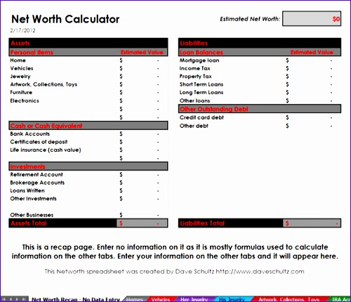 showthread 521 Net Worth Tool