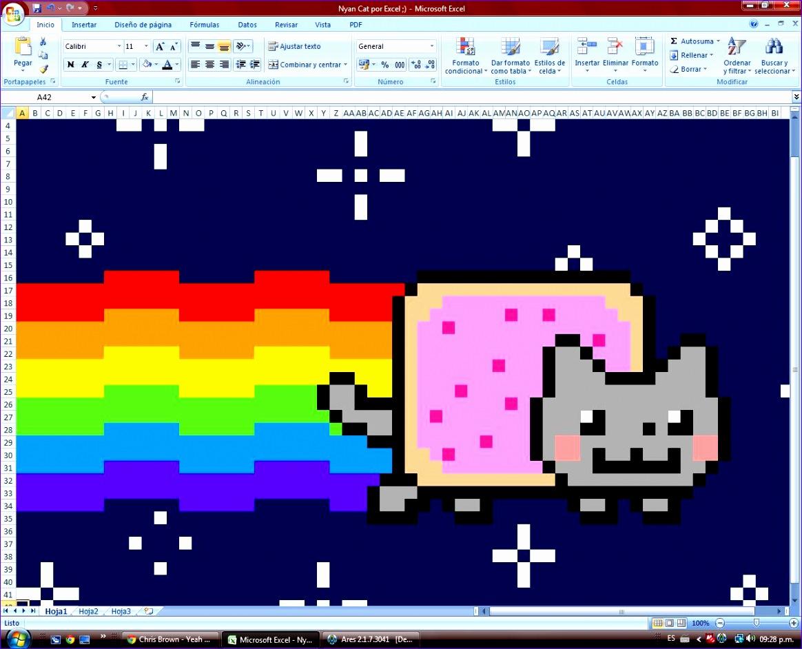 Nyan Cat por Microsoft Excel 1164942