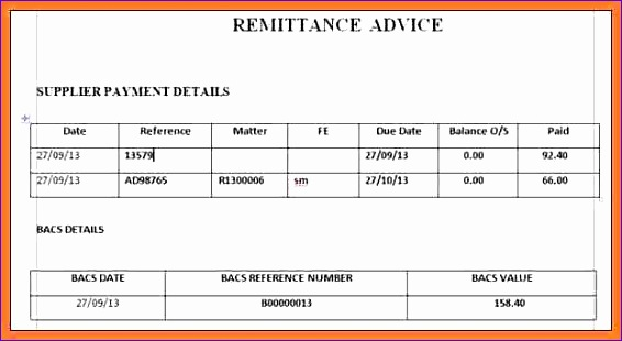 9 sample remittance advice slip 566310